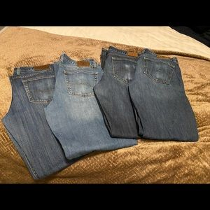 4 pair of Men's Lucky Brand Jeans Lot